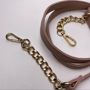 STEVE MADDEN Blush Pink Gold Chain Purse Strap